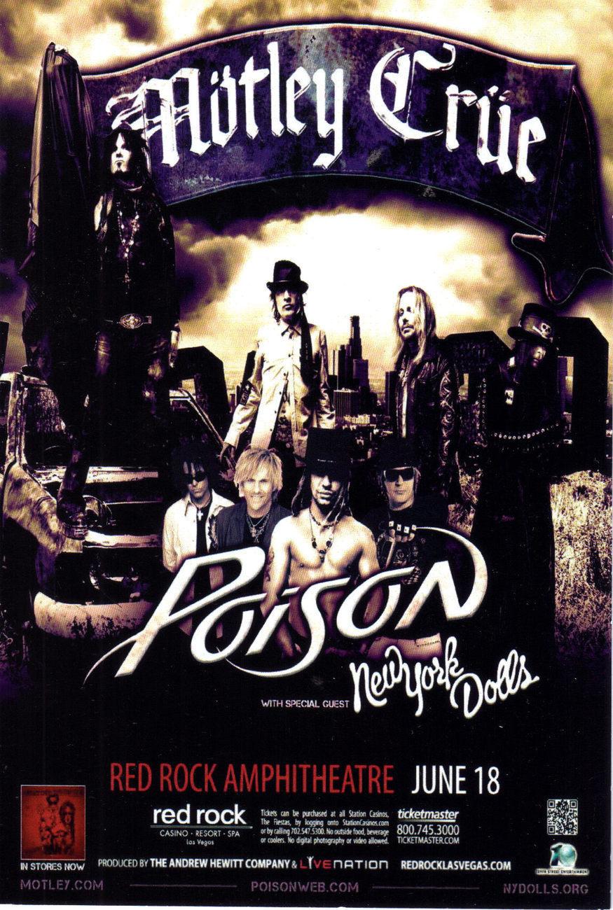 "MOTLEY CRUE ""POISON"" @ RED ROCK HOTELVegas Promo Card"