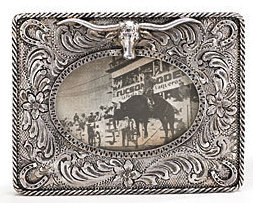 Western Style Photo Frame with Longhorn