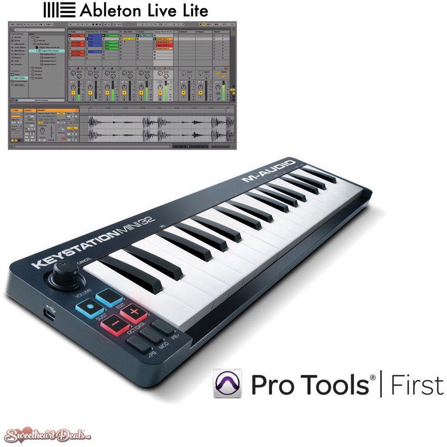 m audio keystation mini 32 usb midi keyboard controller ableton pro tools midi keyboards. Black Bedroom Furniture Sets. Home Design Ideas