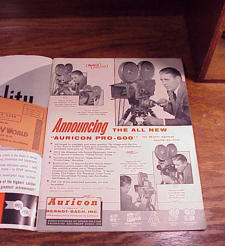 October 1955 Film World and AV World News Magazine