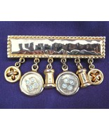 Neat Carolee Sewing Notions & Buttons Brooch Pin Rhinestones - $24.99