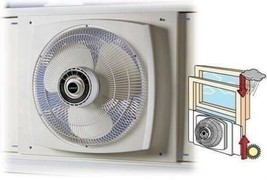 White 16 Inch Electrically Reversible Window Fan 3 Speed Quiet Paddle St... - $173.15