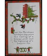 S. Bergman, Early Divided-back, Embossed, Christmas Postcard, Christmas ... - $7.00