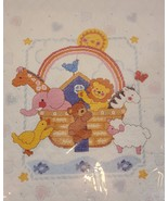 Noah's Ark Baby Quilt Stamped Cross Stitch Kit,08-125 Janlynn   34x43 - $42.08