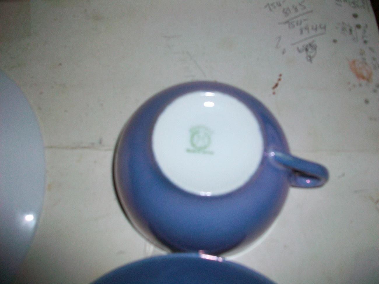 NORITAKE CHINA LAVENDER/BLUE BREAKFAST SET~ 6 pieces