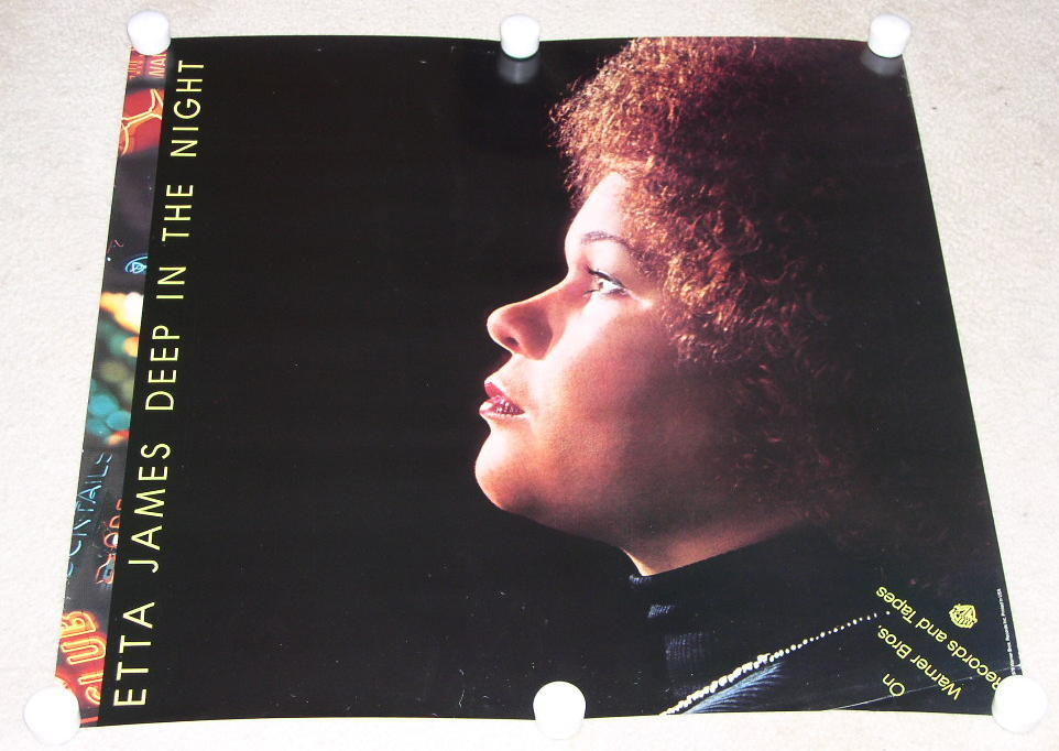 ETTA JAMES POSTER VINTAGE 1978 PROMOTIONAL, RARE