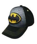 Batman-Logo Boys Flat Bill Snap Back Baseball Hat Youth - $13.16