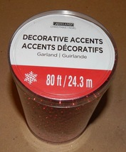Christmas Garland Beads 80 Feet Long Ashland Decorative Accents Red 148S - $16.49