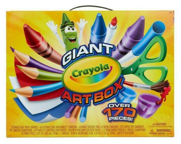 Crayola Giant Art Box 177pc Crayons Markers Colored Pencils Drawing Kids Art NIB