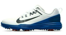 NIKE LUNAR COMMAND 2 GOLF SHOES WHITE/BLUE/RED SIZE 10 NEW W/BOX (849968-103)  image 2