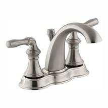 """Kohler K-393-N4-BN Devonshire 4"""" Centerset Bath Faucet, Brushed Nickel - $150.00"""