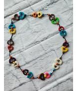 Necklace Bone Wood 92cm Multicolor Jewelry Gift Boho  - $13.36