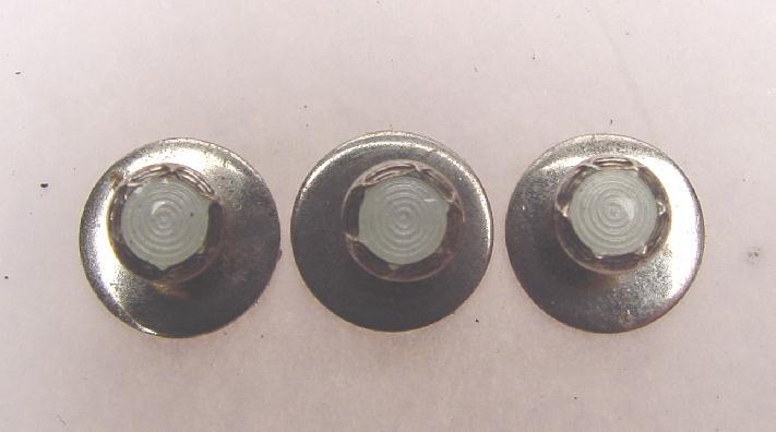 ART DECO STERLING & ENAMEL STUDS