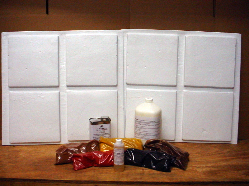 DIY TO SAVE 90% OFF RETAIL - 8 MOLDS + SUPPLIES MAKE 100s MEXICAN SALTILLO TILE