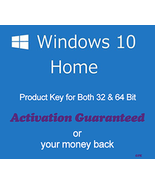 Windows 10 Home 32/64 Bit Product Key with Download - $7.50