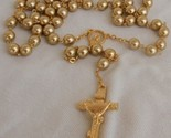A beautiful golden pearl rosary 0c55a thumb155 crop