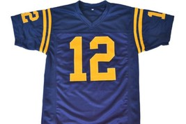 Roger Staubach #12 Navy Men Football Jersey Navy Blue Any Size image 4