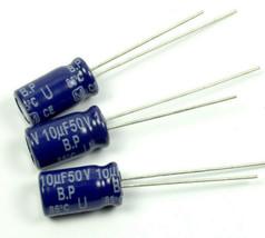 10pcs Panasonic SU, Radial Electrolytic Capacitor, 10uF 50v, Non-polar  BP NP U - $9.56