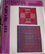 Pattern: McCall's 727 Needlepoint Sampler - $5.00