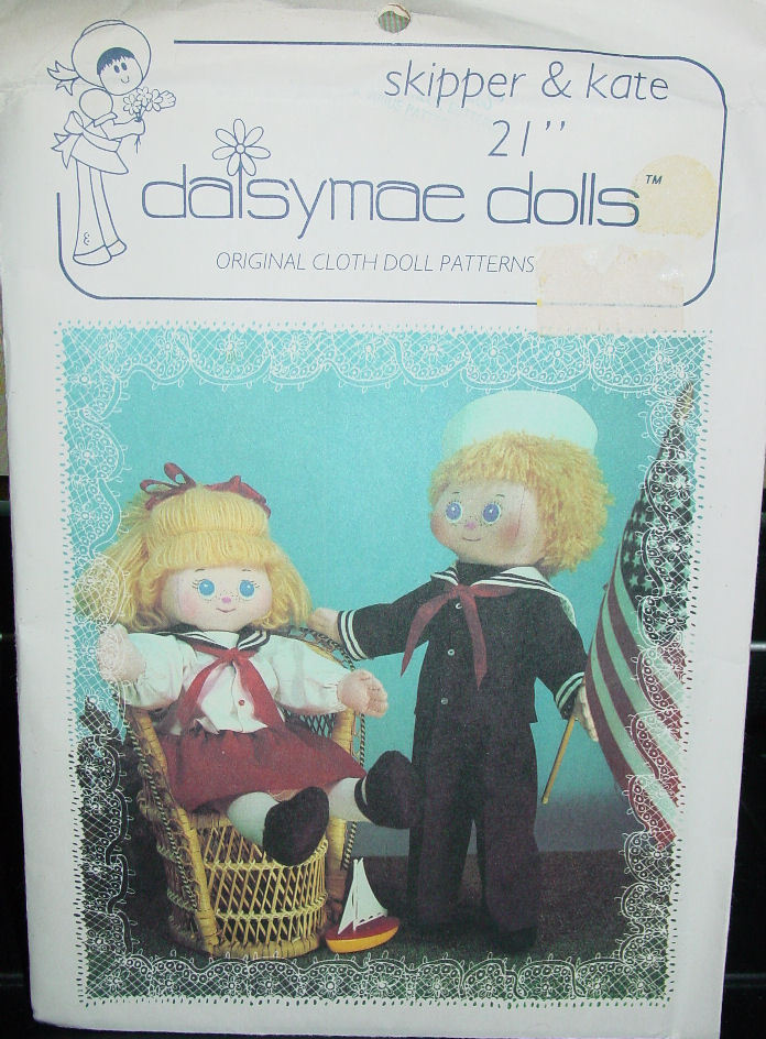Doll Pattern Sailor Boy and Girl Ragdolls & Doll Clothes