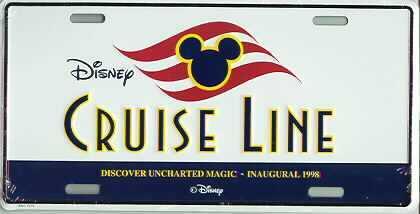 Disney Inaugural Cruise Line  License Plate