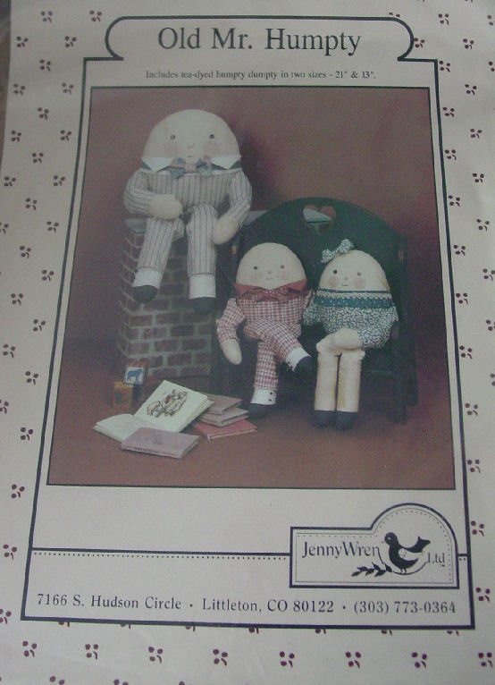 Doll Pattern: Old Mr Humpty Decorative Doll (used) vintage