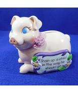 """Pink Piggy Bank """"Train up a Child"""" Inspirational  - $10.50"""