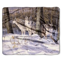 """American Heritage, """"Silent Trackers"""" Throw Blanket, 50""""x 60"""" - $32.99"""