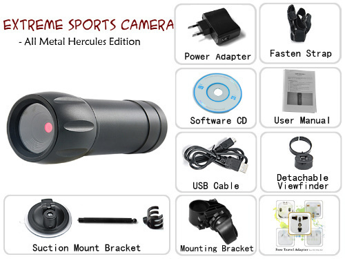 Extreme Sports Camera - All Metal Hercules Edition