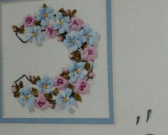 Janlynn~Ribbon Embroidery~HORSESHOE~with 2 bevel-cut mats