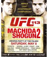 UFC113 Machida Vs Shogun2 Vegas Viewing Party Promo Card - $4.95