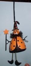 Halloween Witch Goblin Orange handmade ornament - $23.93