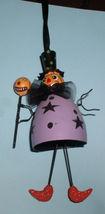 Halloween Witch Goblin purple handmade ornament - $23.93