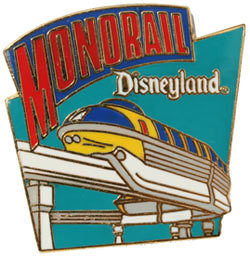 Disney DL 1998  Mark I Monorail attraction  pin/pins