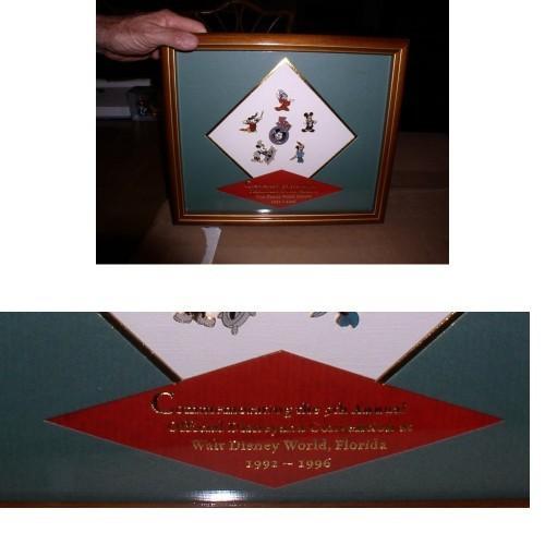 Disneyana Convention Framed 5th Annual Pin Set framed