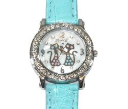 Fashion Crystal Girl's Leather Watch Quartz Gifts Fashion Luxury - $5.39