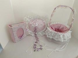 Custom Wedding Bride Heirloom Ring Pillow Flower Girl Basket  Keepsake A... - $123.70