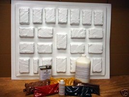 24 MOLDS + SUPPLY KIT TO CRAFT 100s OF 4x6x1.5 PATIO PAVERS OR TILES FOR... - $188.95
