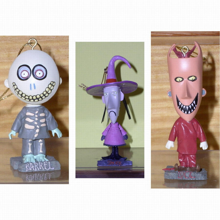 Nightmare Be4 Xmas Lock ShocK & Barrel  3 Bobble Heads