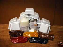 SUPPLY KIT w/18 DRIVEWAY PAVER MOLDS MAKE 100s OF 6x6x2.5 CONCRETE PAVER... - $217.95