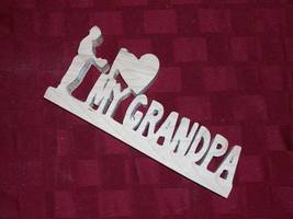 Wooden I love my Grandpa sign display - $23.00