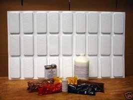 Rustic Brick Patio Paver Kit 24 Molds Supplies Make 1000s #922 Pavers @ Pennies