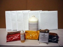 12x12 RUSTIC TILE MAKING KIT w/6 MOLDS & SUPPLIES CRAFTS 100s OF TILES @ PENNIES