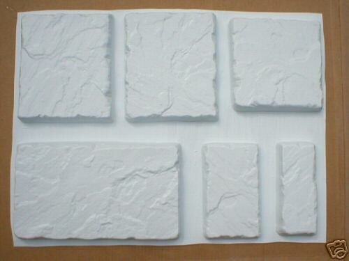 HAND CRAFT 6 CONCRETE WALL CAP MOLDS - CAST THEM FOR PENNIES A SQ. FT. (5 SIZES)