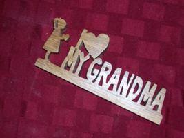 Wooden I love my Grandma display sign - $23.00