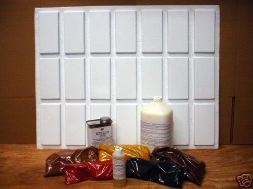 #925 BRICK VENEER PROJECT KIT w/21 MOLDS & SUPPLIES TO MAKE CRAFT BRICKS FOR PEN