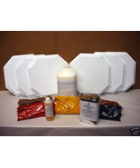 12 MOLD TILE MAKING KIT w/SUPPLIES MAKE 12x12 OCTAGON FLOOR TILES FOR $0... - $249.95