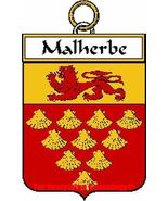 Malherbe French Coat of Arms Malherbe Family Crest - $25.00
