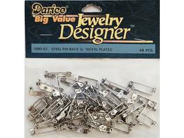 """Darice Big Value Pack 3/4"""" Nickel Plated Steel Pin Backs #1880-57"""