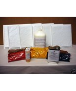 DIY 12X12 SQ. SLATE TILE KIT W/6 MOLDS, ALL SUPPLIES - $179.95